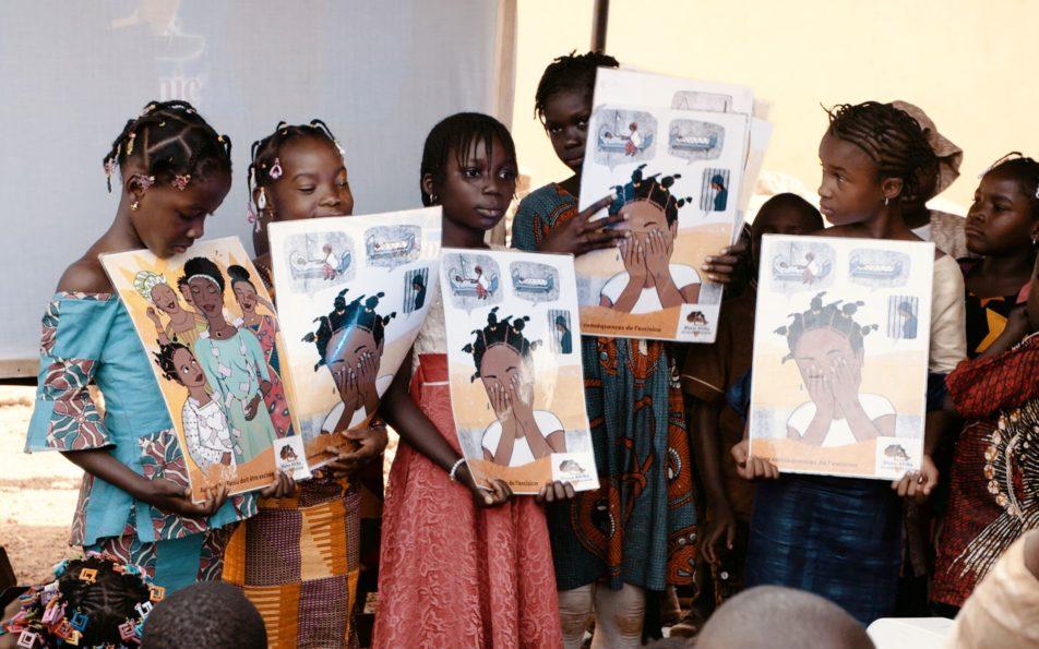 Kindergarten in Kankan Guinea Aufführung Kinder